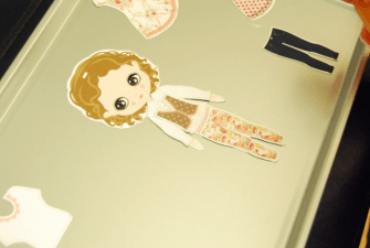 DIY: Magnetic Paper Dolls
