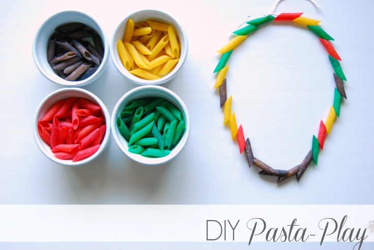Diy Pasta Fun For Toddlers Little Miss Mama