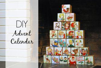 DIY: Vintage Advent Calendar