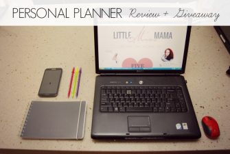 REVIEW + GIVEAWAY: Personal Planner