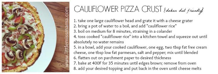 DukanCauliflowerPizza