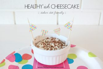 RECIPE: Healthy'ish Cheesecake {dukan friendly}