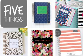 FIVE THINGS {life changing day timers}