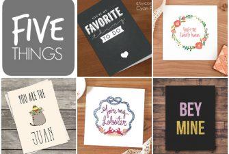 FIVE THINGS: Last-Minute Printable Valentines