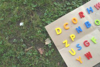 DIY Golden Alphabet Play