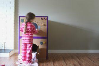 DIY Cardboard Box Laundry Set