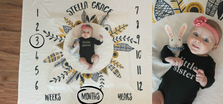 FAMILY: Stella Grace (month 3) +GIVEAWAY