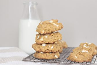 Pumpkin Oatmeal White Chocolate Cookies