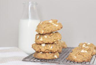 Pumpkin Oatmeal White Chocolate Cookies