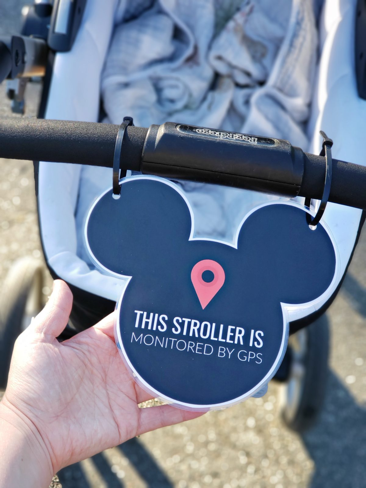 photograph relating to You're Going to Disneyland Printable identified as Printable Stroller Signal for Disneyland Small Overlook Mama