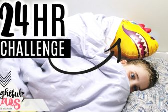 24 Hour Challenge with a Dinosaur